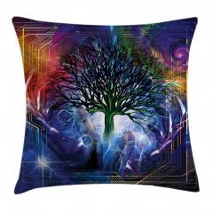 Ağaç Desenli Yastık Kırlent Kılıfı