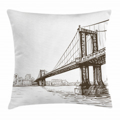Köprü Desenli Yastık Kırlent Kılıfı