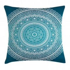 Mavi Mandalalı Desen Yastık Kırlent Kılıfı