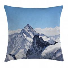 Karlı Kayalık Dağlar Yastık Kırlent Kılıfı