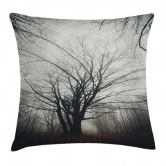 Çıplak Ağaç ve Yaprak Yastık Kırlent Kılıfı