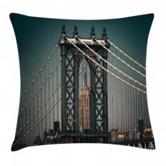 Manhattan Köprüsü Yastık Kırlent Kılıfı