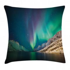 Norveç Kuzey Işıkları Yastık Kırlent Kılıfı
