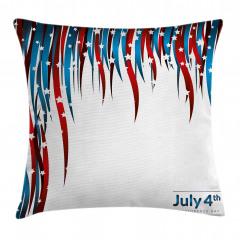 Kalpli Amerikan Bayrağı Yastık Kırlent Kılıfı