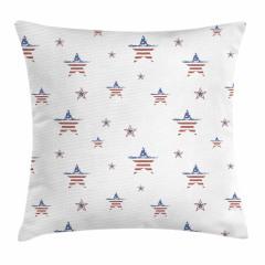 Eski Amerikan Bayrağı Yastık Kırlent Kılıfı