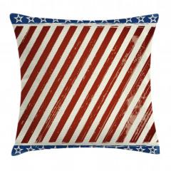 ABD Bayrağı Deseni Yastık Kırlent Kılıfı