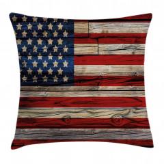 Amerikan Bayrağı Yastık Kırlent Kılıfı