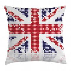Birleşik Krallık Deseni Yastık Kırlent Kılıfı