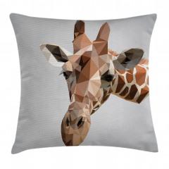 Geometrik Zürafa Yastık Kırlent Kılıfı
