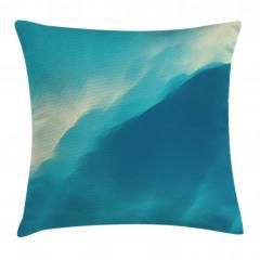 Dalgalı Deniz Desenli Yastık Kırlent Kılıfı