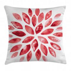 Pembe Dekoratif Çiçek Yastık Kırlent Kılıfı