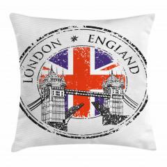 Londra Köprüsü Yastık Kırlent Kılıfı