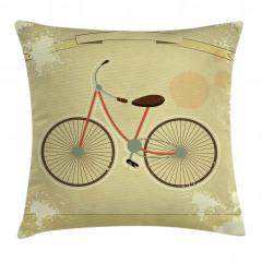 Nostaljik Bisiklet Yastık Kırlent Kılıfı