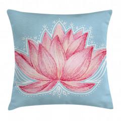 Pembe Lotusun Büyüsü Yastık Kırlent Kılıfı