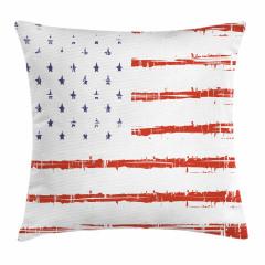 Silik Amerikan Bayrağı Yastık Kırlent Kılıfı