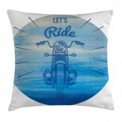Retro Motosiklet Yastık Kırlent Kılıfı