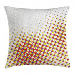 Renkli Geometrik Şekil Yastık Kırlent Kılıfı