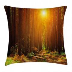 Ormanda Gün Doğumu Yastık Kırlent Kılıfı