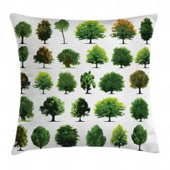 Orman Ağaçları Desenli Yastık Kırlent Kılıfı