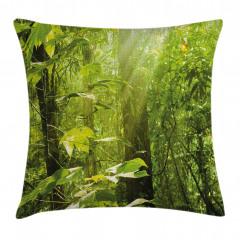 Ormanda Güneşli Bir Gün Yastık Kırlent Kılıfı