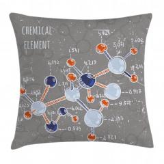 Kimya Deneyi Desenli Yastık Kırlent Kılıfı