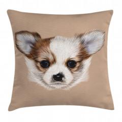 Sevimli Köpek Portresi Yastık Kırlent Kılıfı