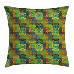 Soyut Geometrik Desenli Yastık Kırlent Kılıfı