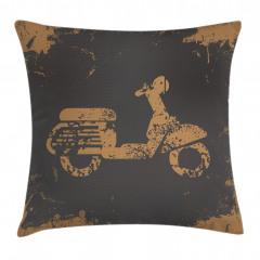 Nostaljik Motosiklet Yastık Kırlent Kılıfı