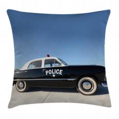Nostaljik Polis Arabası Yastık Kırlent Kılıfı