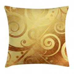 Altın Spiral Desenli Yastık Kırlent Kılıfı