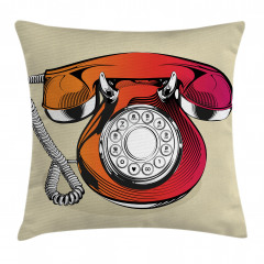 Çevirmeli Telefon Yastık Kırlent Kılıfı
