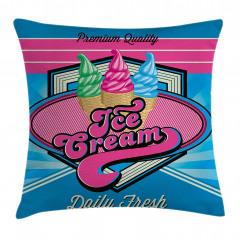Retro Dondurmacı Yastık Kırlent Kılıfı