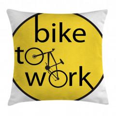 Bisiklete Binin İlanı Yastık Kırlent Kılıfı
