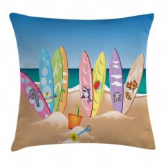 Hayvan Sörf Tahtaları Yastık Kırlent Kılıfı