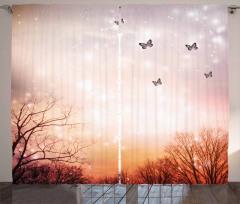 Gökyüzü ve Kelebek Fon Perde Romantik