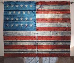 Tahta ile ABD Bayrağı Fon Perde