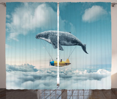 Hayaller Temalı Fon Perde Bulutlar Üstünde Uçma