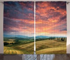 İtalya'da Yaz Temalı Fon Perde Romantik Gökyüzü