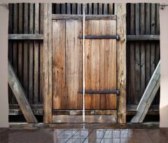 Antika Ahşap Kapı Fon Perde Bina Mimari