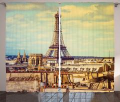 Eyfel Kulesi Manzaralı Fon Perde Paris Temalı Şık