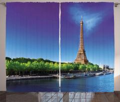 Gün Doğumu Temalı Fon Perde Eyfel Kulesi Paris