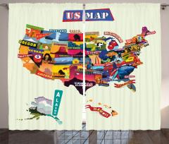 Rengarenk ABD Haritası Fon Perde Coğrafya