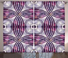 Geometrik Desenli Fon Perde Şık Tasarım Bordo