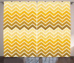Sarı Zikzaklı Fon Perde Sarı Şık Tasarım Trend