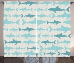 Mavi Köpek Balığı Fon Perde Beyaz Arka Plan
