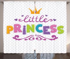 Küçük Prenses Fon Perde Rengarenk Prenses