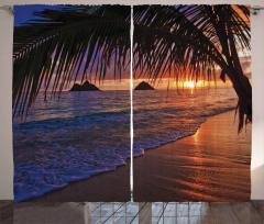 Gün Batımı Deniz Temalı Fon Perde Romantik