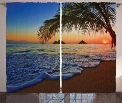 Denizde Gün Batımı Fon Perde Romantik