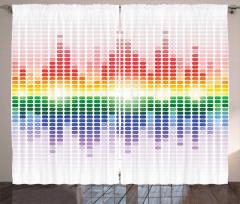 Rengarenk Müzik Temalı Fon Perde Beyaz Arka Plan
