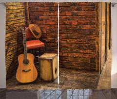 Müzik Gitar Fon Perde Duvar Fonlu